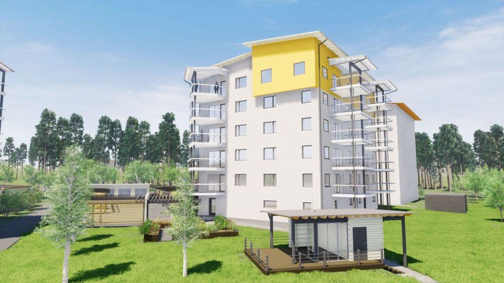 Uusi KT-asunto 3h+k+s=76,5 m²
